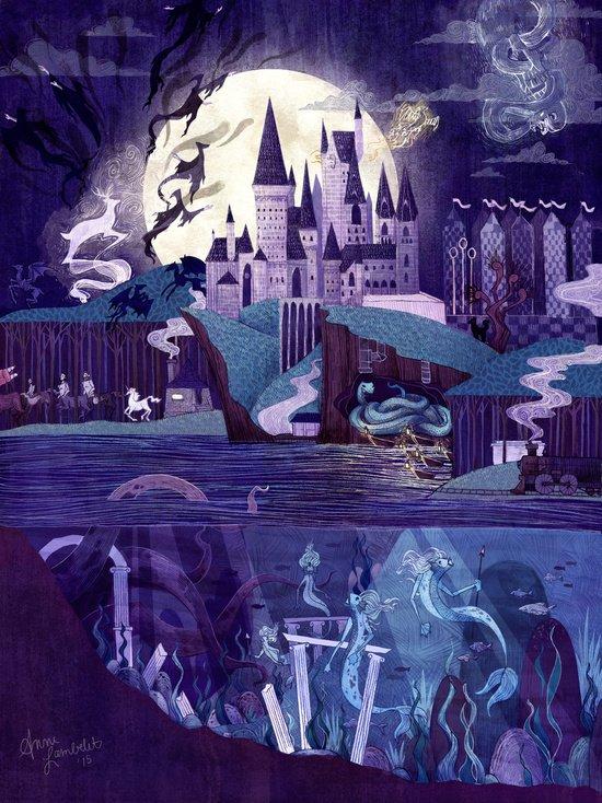 hogwarts illustratie