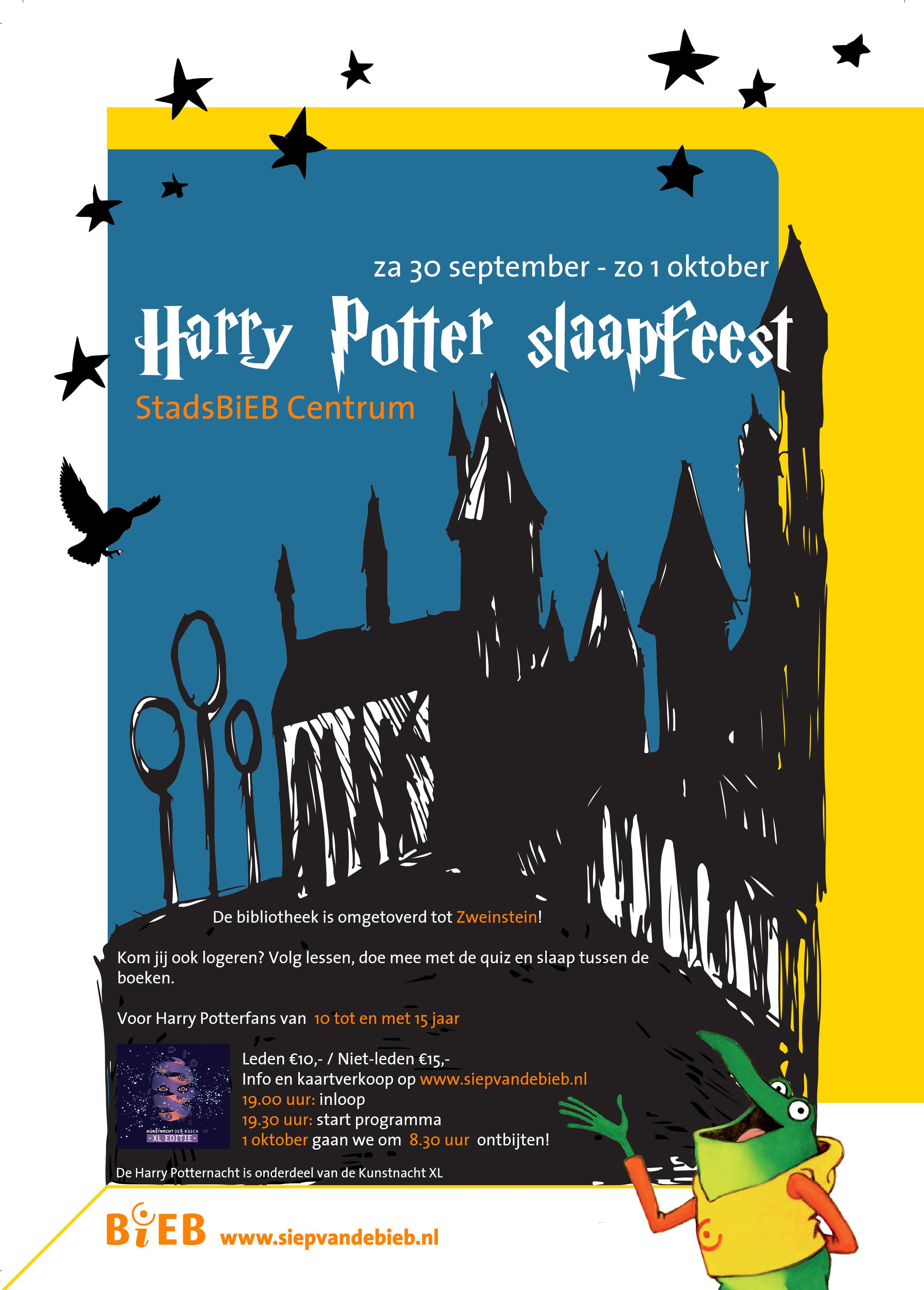 De bibliotheek in Den Bosch opent 's nachts haar deuren voor jonge Harry Potter-fans.