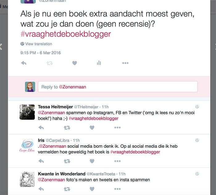 #Vraaghetdeboekblogger: recenseren en andere manieren om een boek te promoten